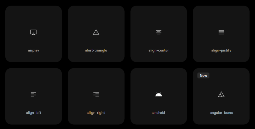 530+ Angular Icons