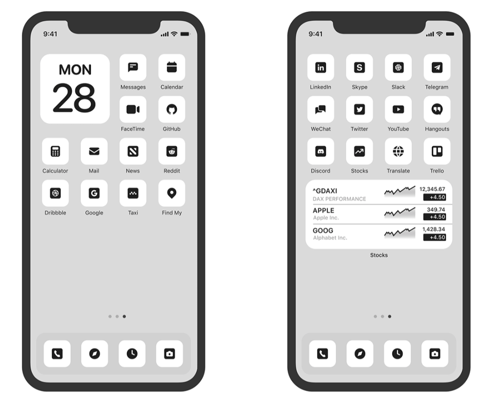 Custom App Icons For iOS 14 Light Version