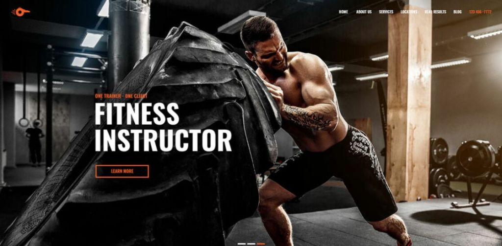 Fitness Personal Trainer Web Template