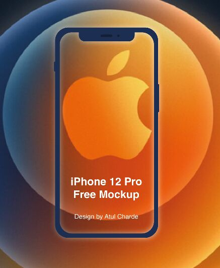 iPhone 12 Pro PSD Mockup