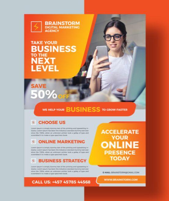Free Social Media Business Digital Marketing Flyer Design Template