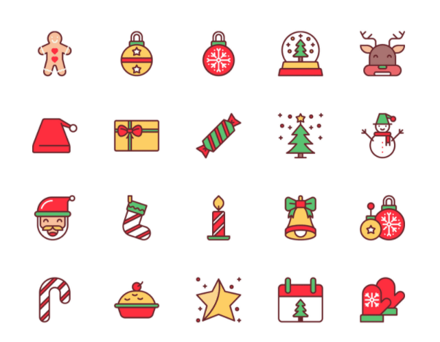 20 Christmas Icons For Free