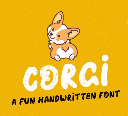 CORGI free font