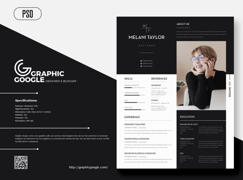 Creative Modern CV-Resume With Cover Letter