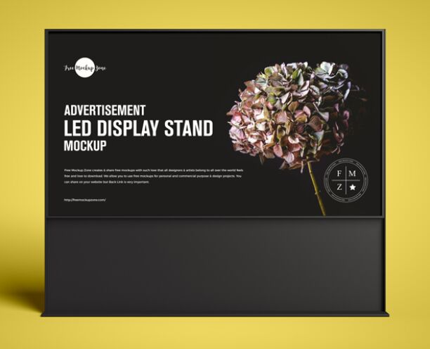 Free Advertisement LED Display Stand Mockup