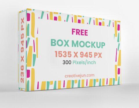Free Box Packaging Mockups (PSD)