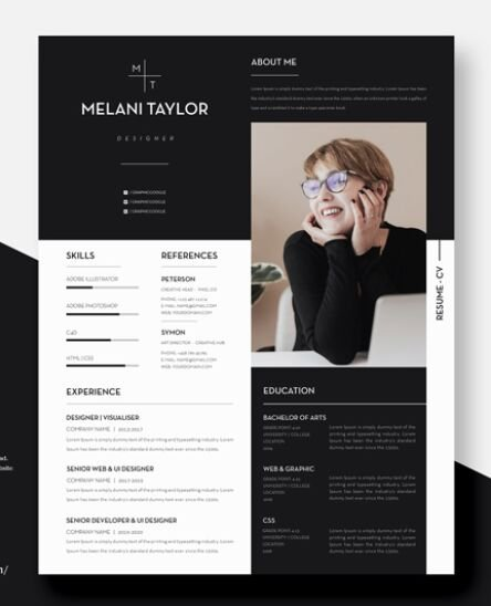 Free Creative Modern CV-Resume With Cover Letter For Designers