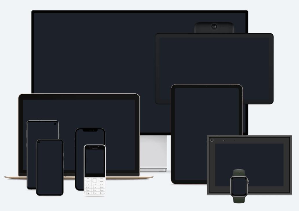 Popular Mobile/Tablet/Desktop Devices Mockup Pack