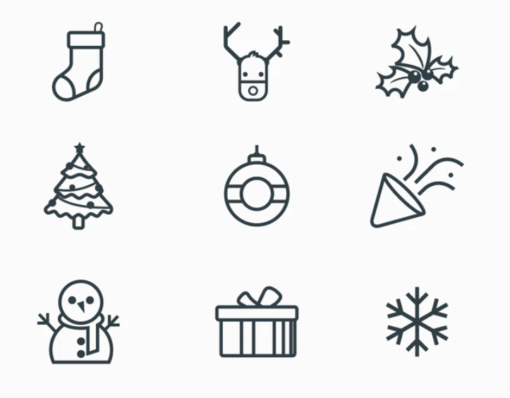 New-Year Line Icons
