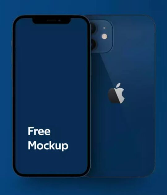 iPhone 12 Free Mockup PSD