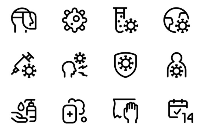 140 Free Vector Covid Icons
