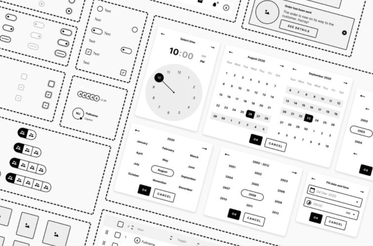 Free wireframe system Variants