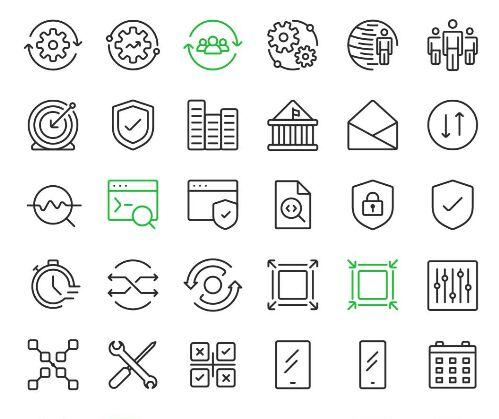 110 Modern Vector Icons