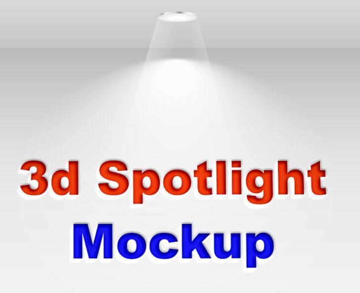 3D Spotlight Mockup Free Download