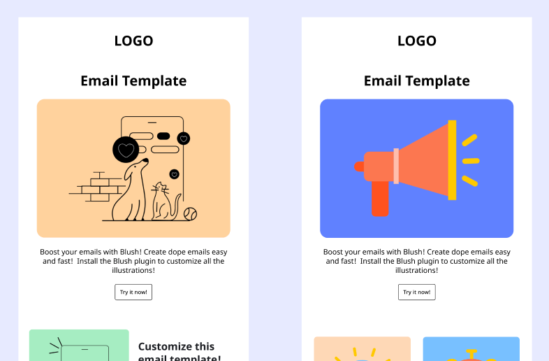 Email Template with Stickers