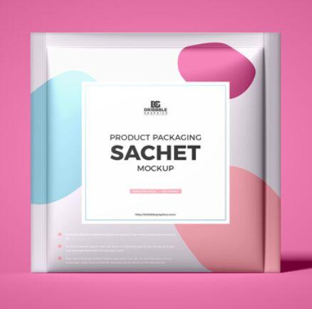 Product Packaging Sachet Mockup
