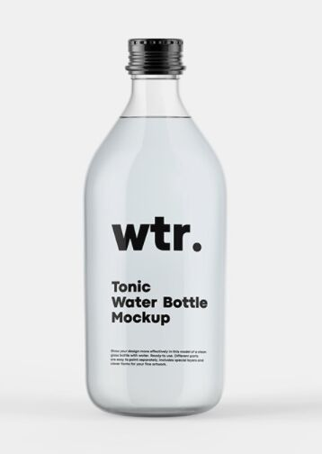 Tonic Bottle Mockup