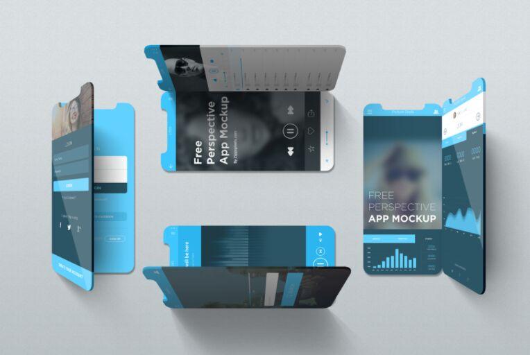 iPhone X Perspective App Mockup
