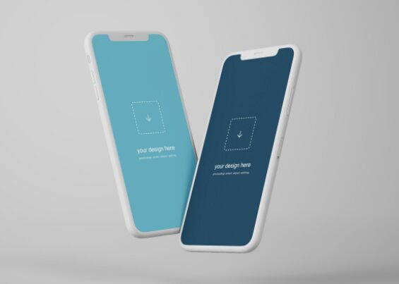 Flying iPhone Mockups Free Download