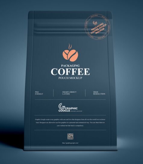 Free Packaging Coffee Pouch Mockup