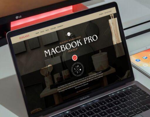 Free Realistic Workstation MacBook Pro Mockup