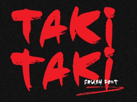 Taki Taki Brush Font