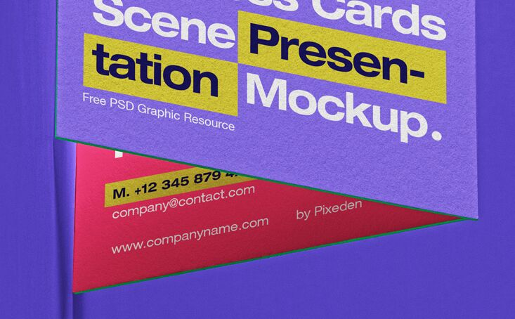 Business Card Psd Scene Mockup Set