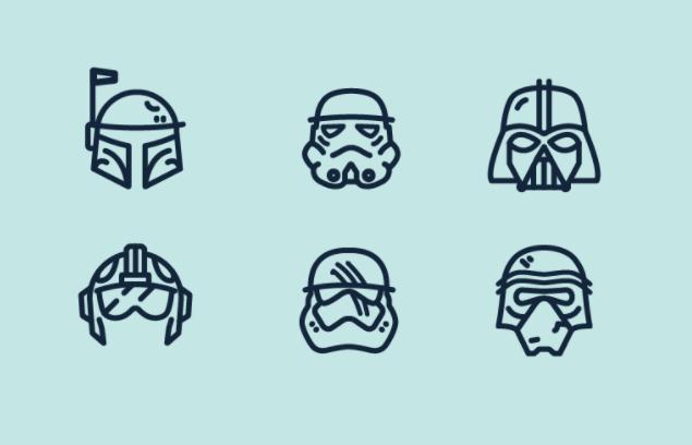 Helmets of Star Wars