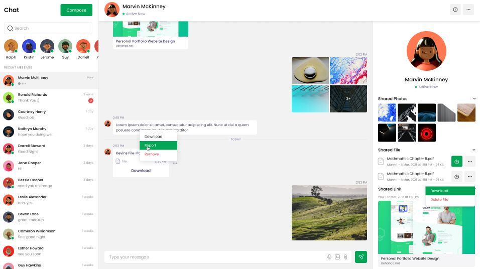 Oxrin - Chat Message Figma Template