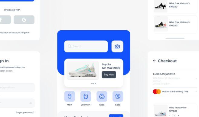 Shopy - Shopping app Free UI Kit