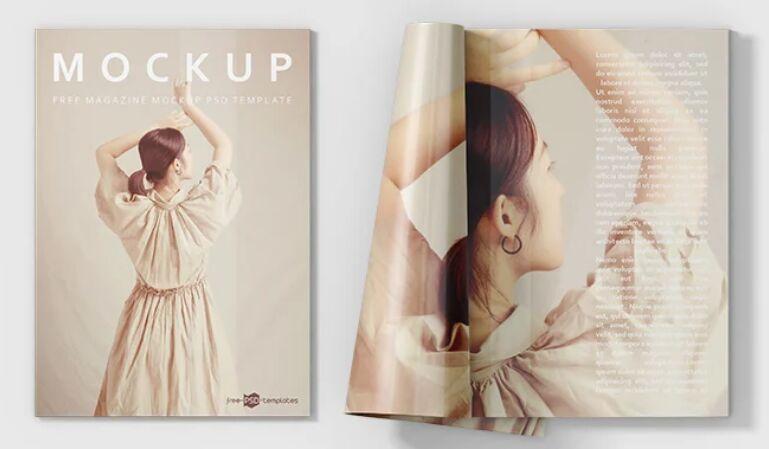 3 Realistic Magazine PSD Mockups