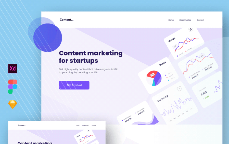Content Marketing Landing Page