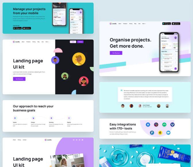 Landing Page UI Kit For Figma
