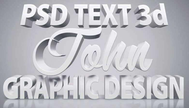 White 3D Text Effect