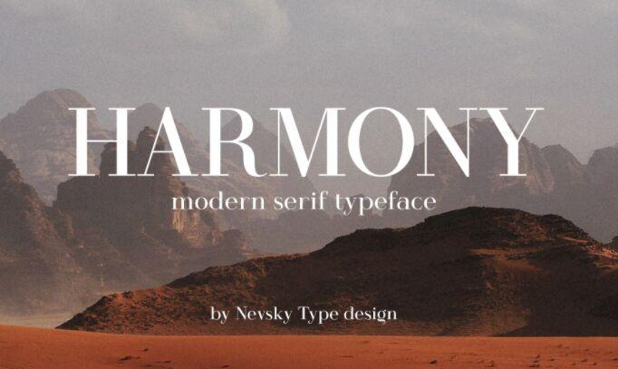 HARMONY Typeface