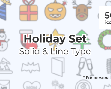 100 Holiday Icons For Figma App Line Style Cover