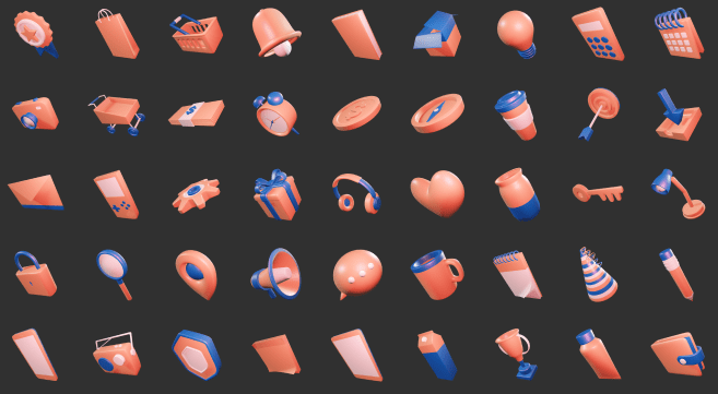 3D Sleek Illustration Pack Aero Style