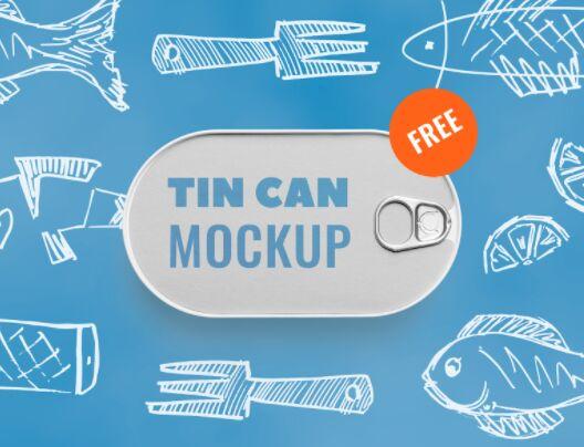Fish Tin Can Mockup