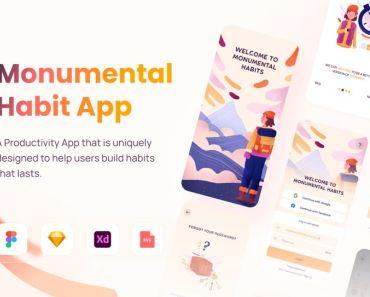 Monumental Habit App UI Pack