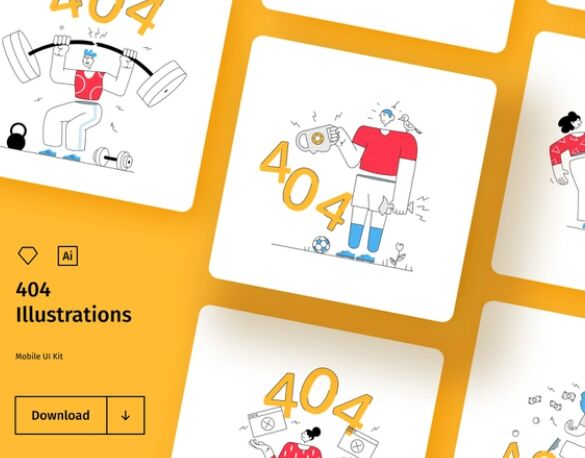 404 Illustration Set