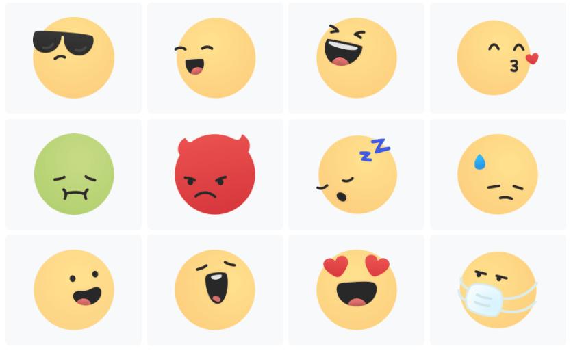 Cute Emoji Smiles With Gradient