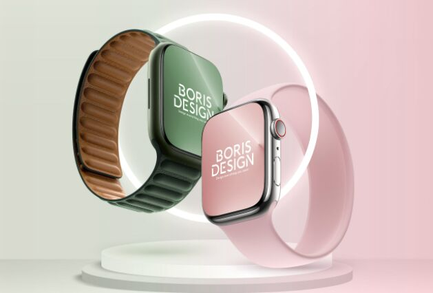 Free PSD Apple Watch Series 7 mockup