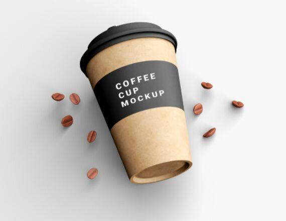 Free PSD Coffee Cup Mockup