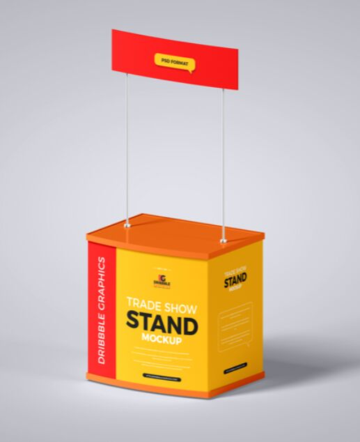 Free Trade Show Stand Mockup