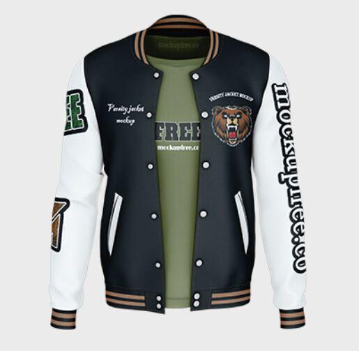 Free Varsity Jacket Mockup