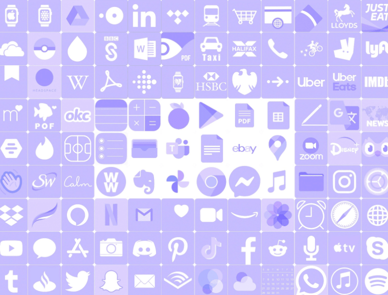 Lavender Custom App Icons