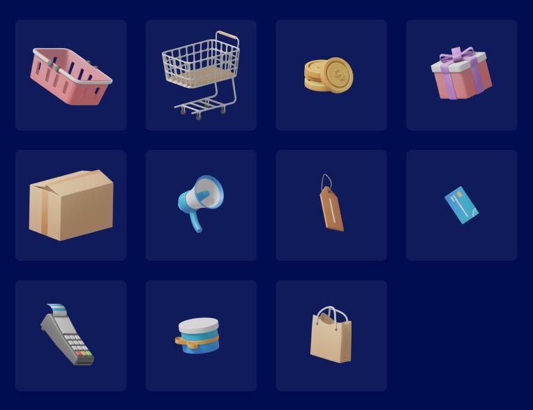 Shopingin 3D Illustration Pack