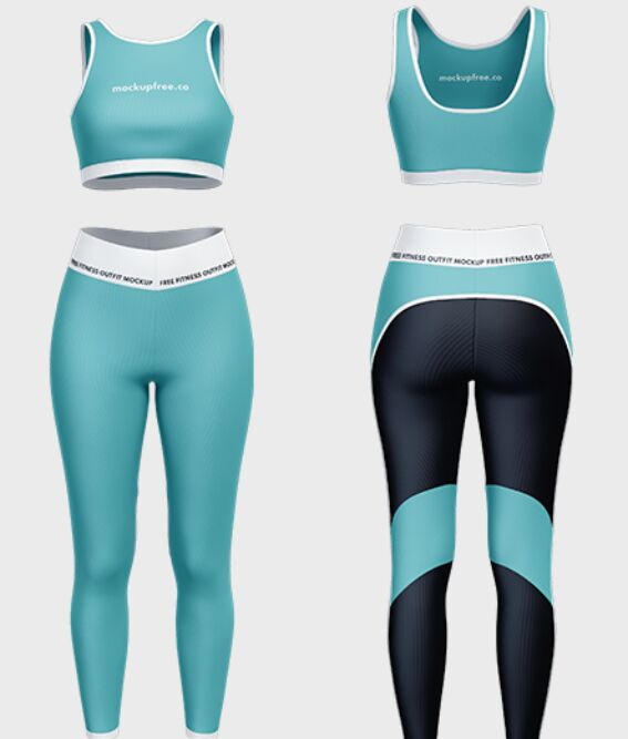 Free Fitness Outfit Mockup