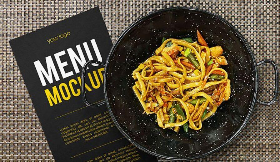 Free Restaurant Menu Concept Mockup