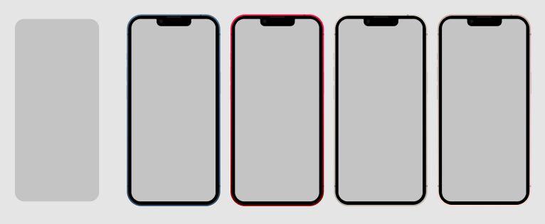 iPhone 13 Mockup (5 Colors) Figma Mockup